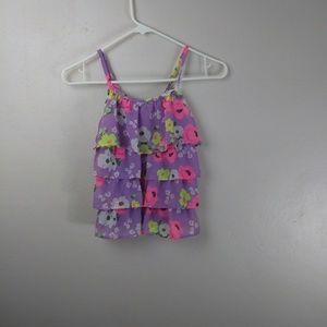 Cherokee Floral Top Size 7/8 -- W